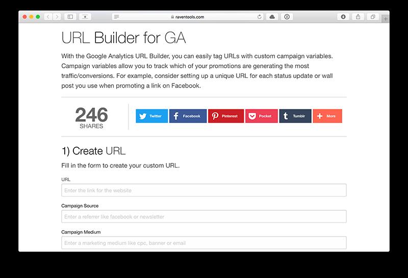 URL Builder for GA